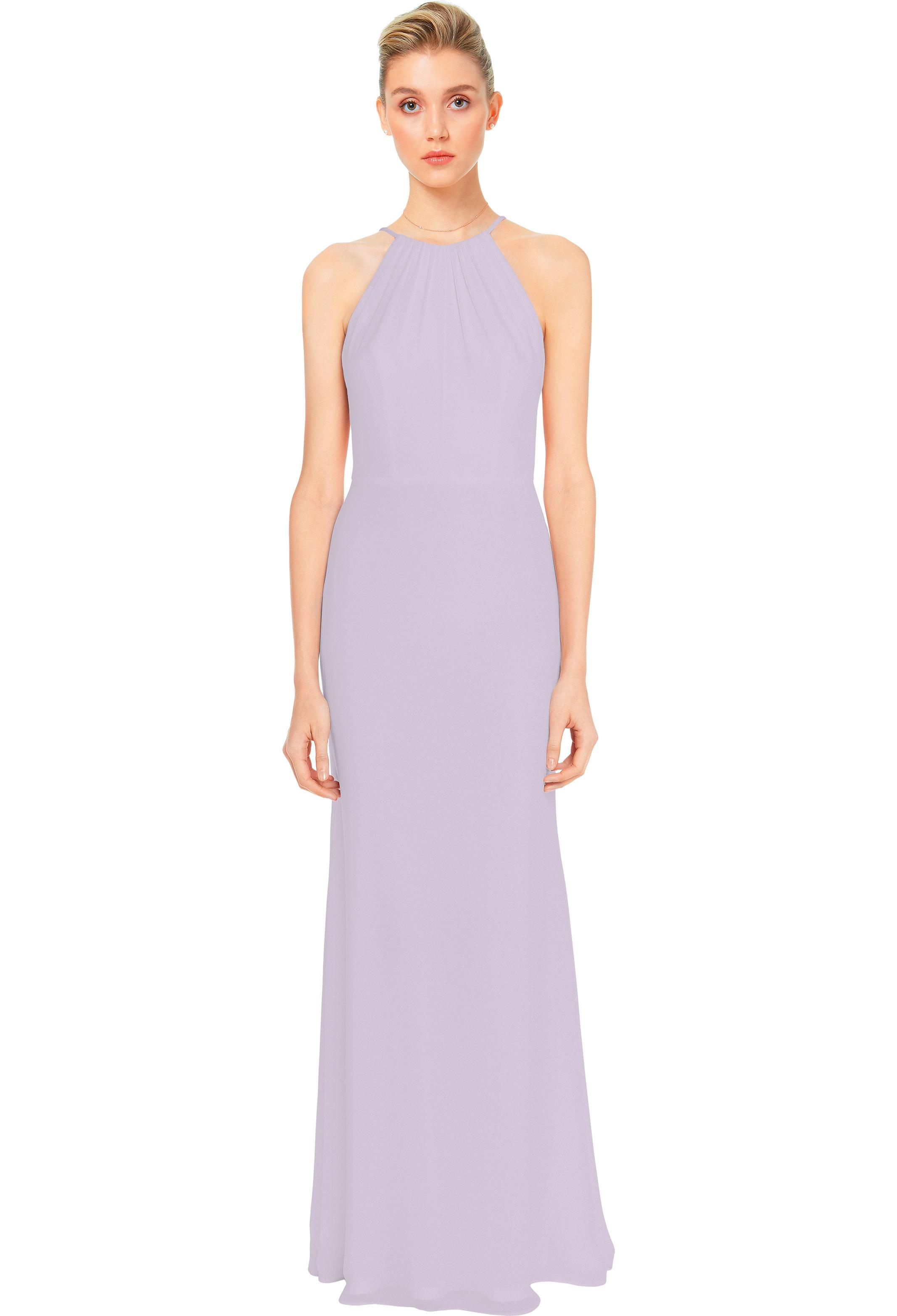 Bill Levkoff VIOLET Chiffon Spaghetti Strap A-line gown, $158.00 Front