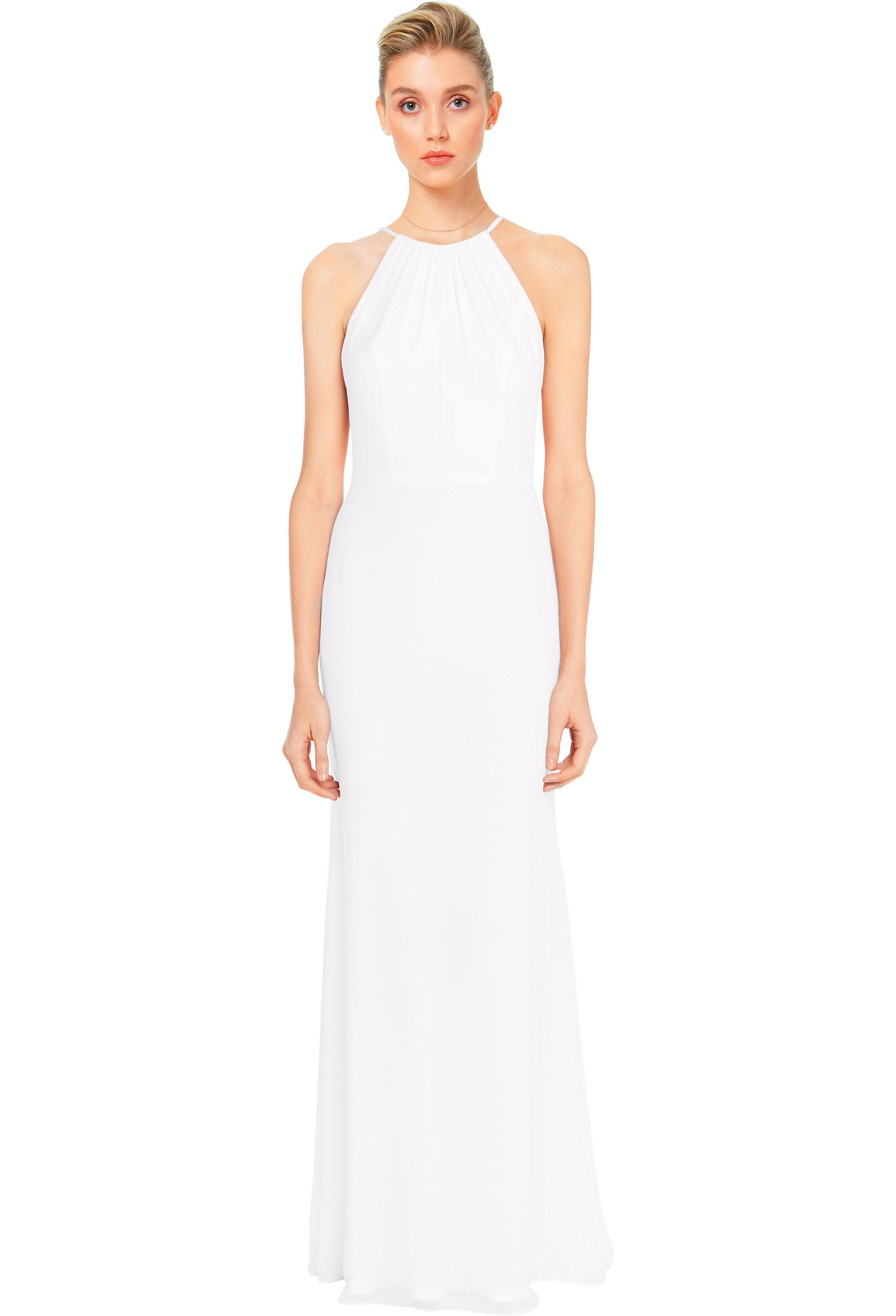 Bill Levkoff EVERGREEN Chiffon Spaghetti Strap A-line gown, $158.00 Front