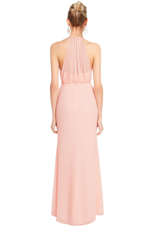 Bill Levkoff HEATHER Chiffon Spaghetti Strap A-line gown, $158.00 Back