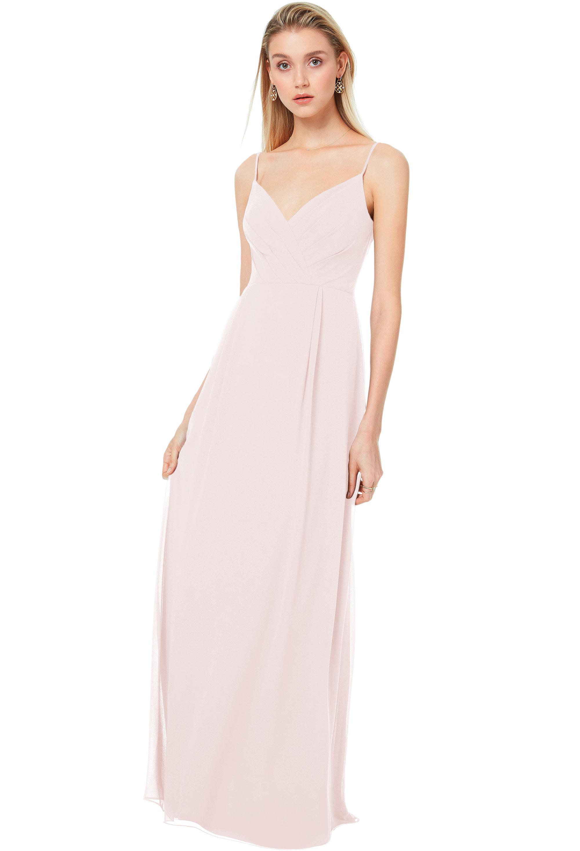 Bill Levkoff PETAL PINK Chiffon V-back A-line gown, $170.00 Front