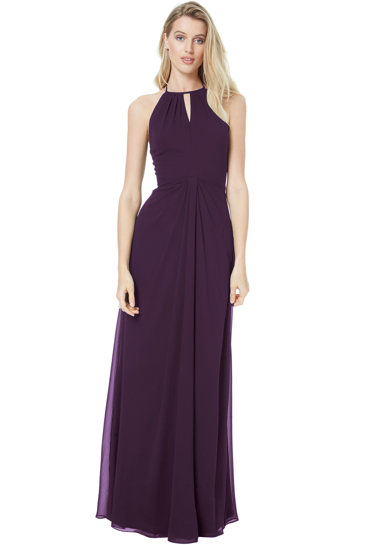 Bill Levkoff PLUM Chiffon Sweetheart A-line gown, $178.00 Front
