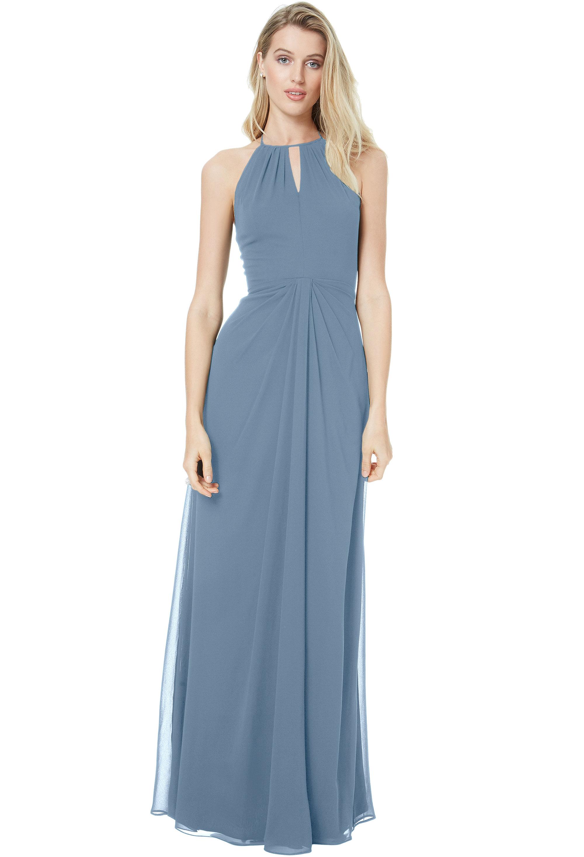 Bill Levkoff SLATE Chiffon Sweetheart A-line gown, $178.00 Front