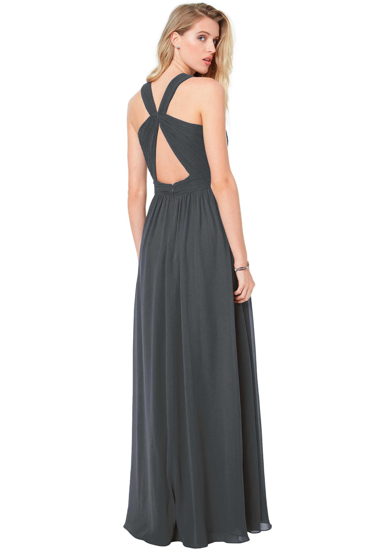 Bill Levkoff PEACH Chiffon Keyhole Back A-line gown, $170.00 Back