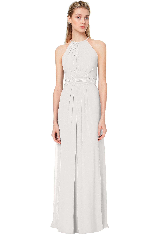 Bill Levkoff IVORY Chiffon Spaghetti Strap A-line gown, $178.00 Front