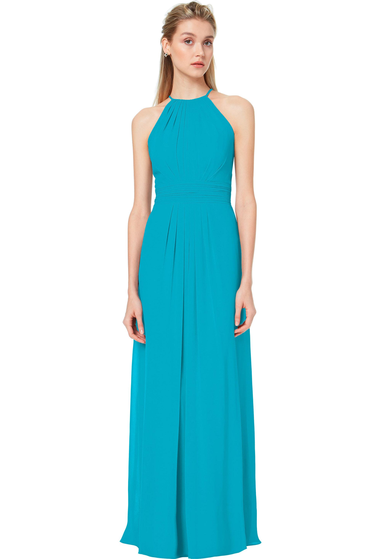 Bill Levkoff OASIS Chiffon Spaghetti Strap A-line gown, $178.00 Front