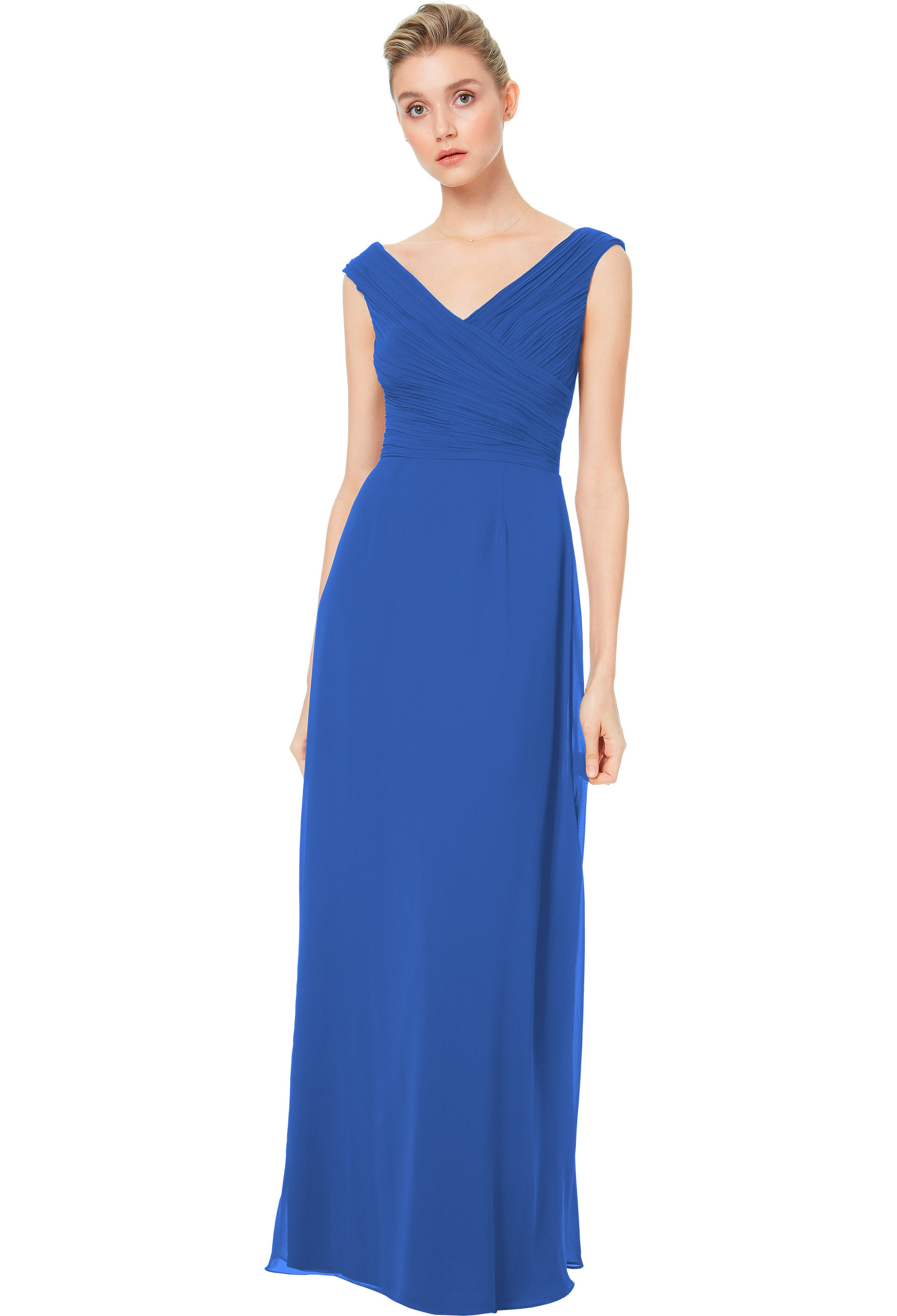 Bill Levkoff HORIZON Chiffon Off The Shoulder A-line gown, $158.00 Front