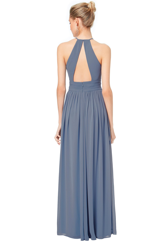 Bill Levkoff CAPRI Chiffon Keyhole Back A-line gown, $178.00 Back
