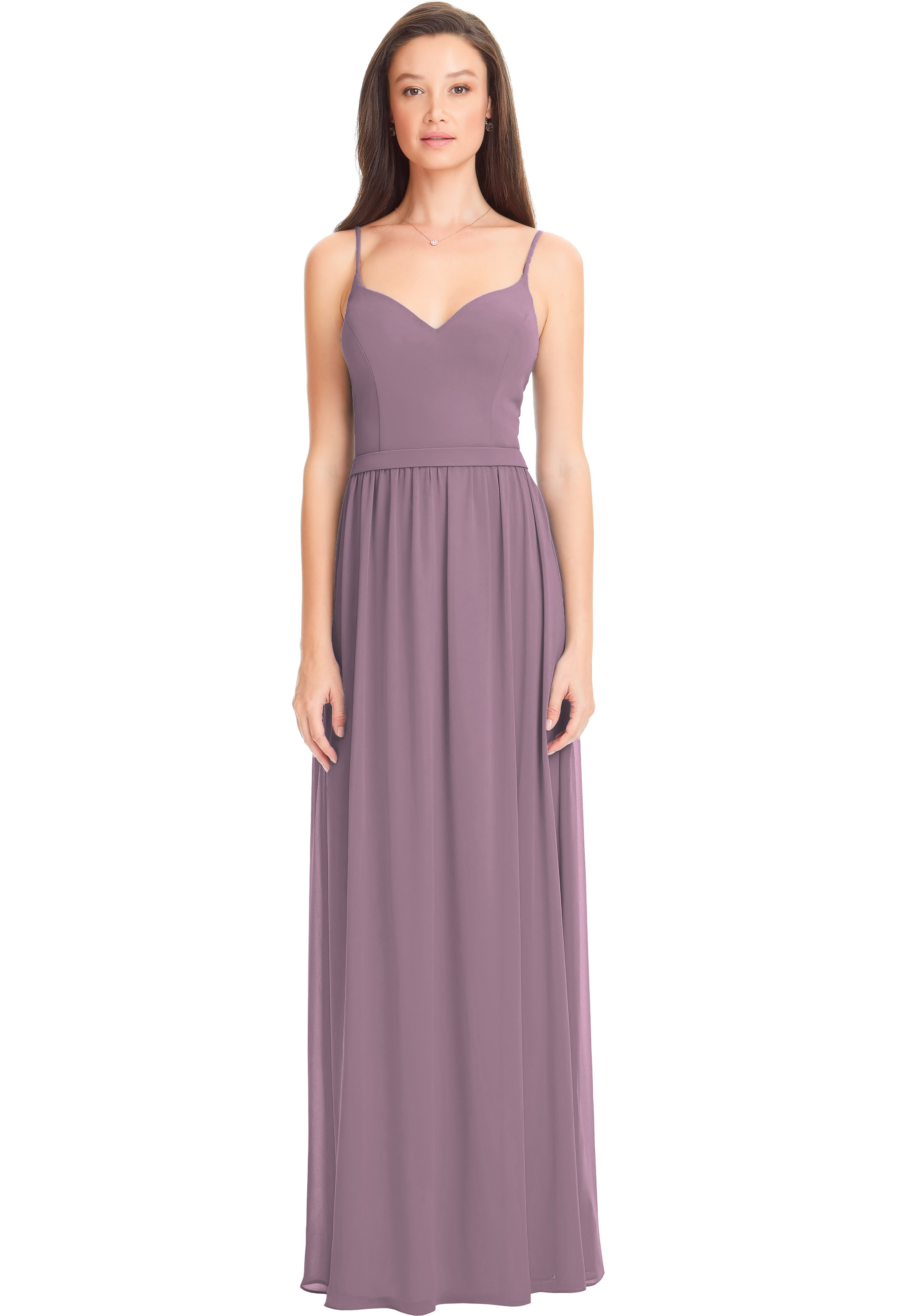 Bill Levkoff WISTERIA Chiffon Sweetheart A-line gown, $170.00 Front