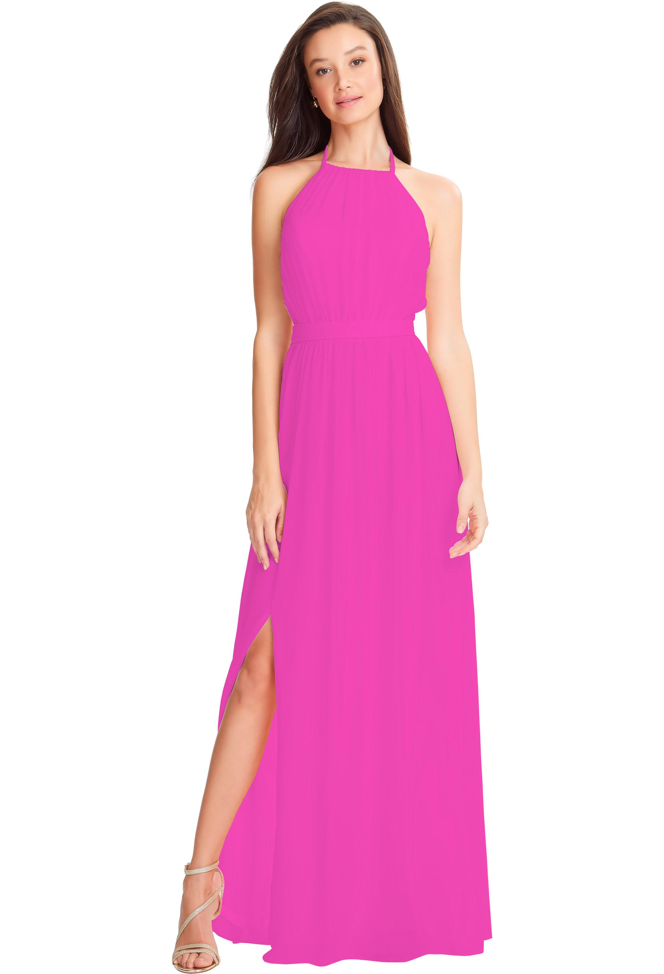 Bill Levkoff SANGRIA Chiffon Spaghetti Strap Side Slit gown, $178.00 Front