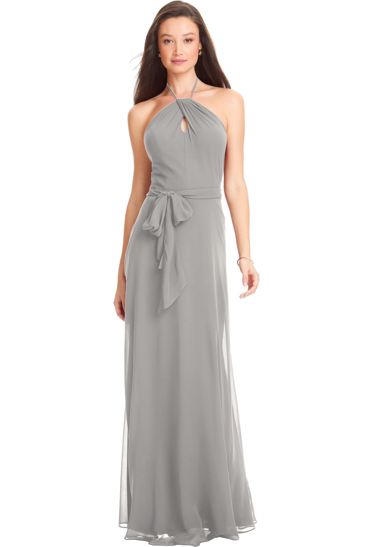 Bill Levkoff IVORY Chiffon Spaghetti Strap A-line gown, $170.00 Front