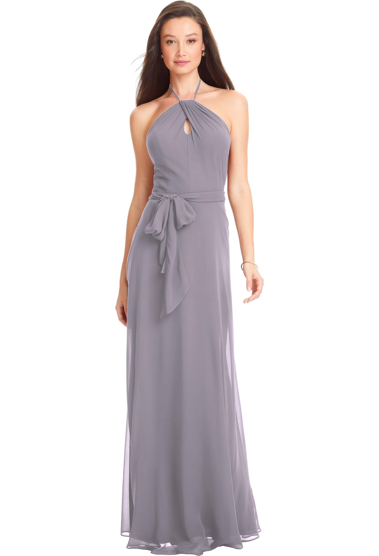 Bill Levkoff VIOLET Chiffon Spaghetti Straps A-line gown, $170.00 Front