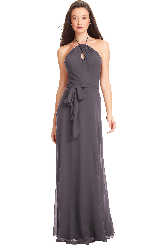 Bill Levkoff HEATHER Chiffon Spaghetti Strap A-line gown, $170.00 Front