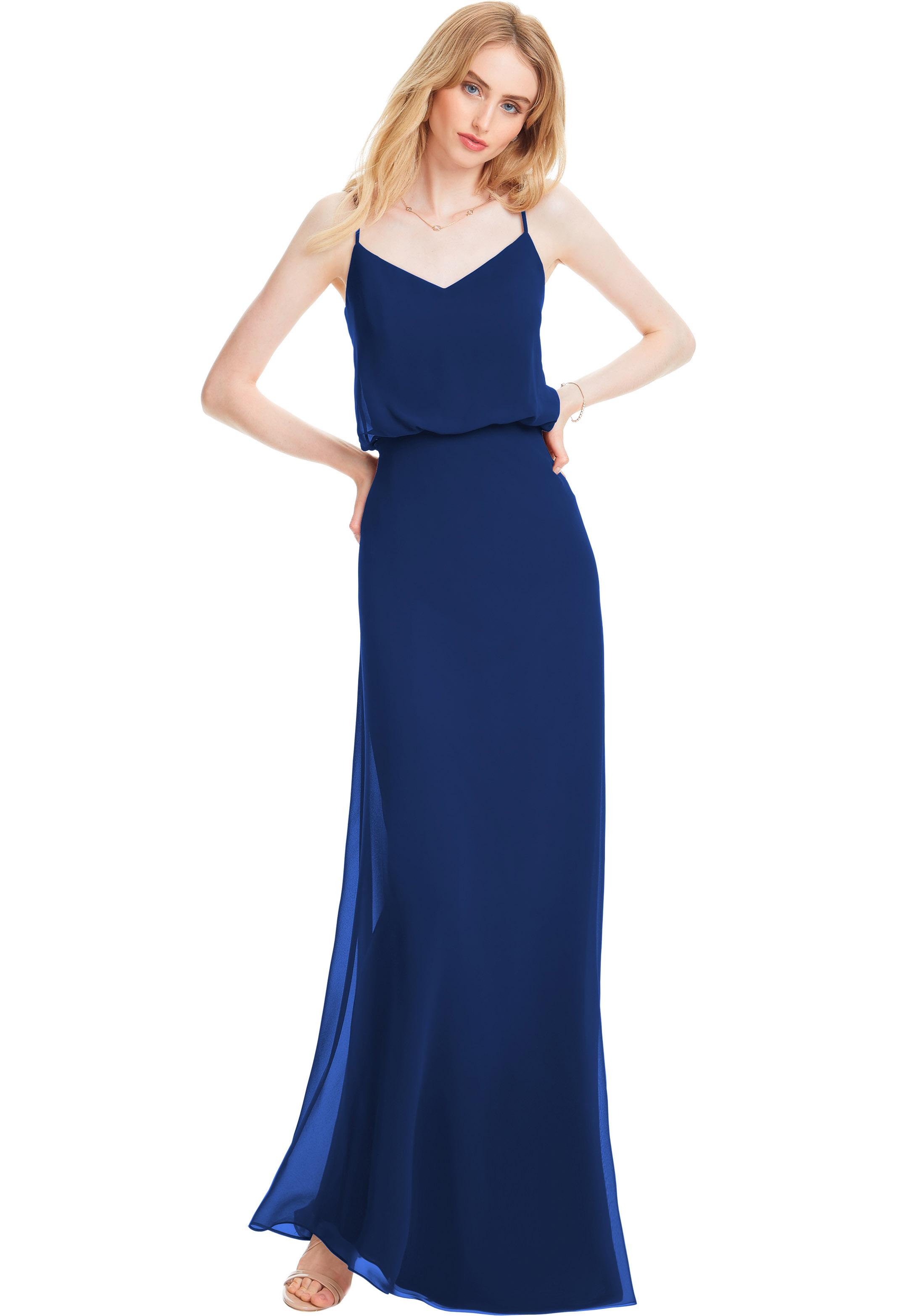 Bill Levkoff HORIZON Chiffon V-neck A-line gown, $170.00 Front