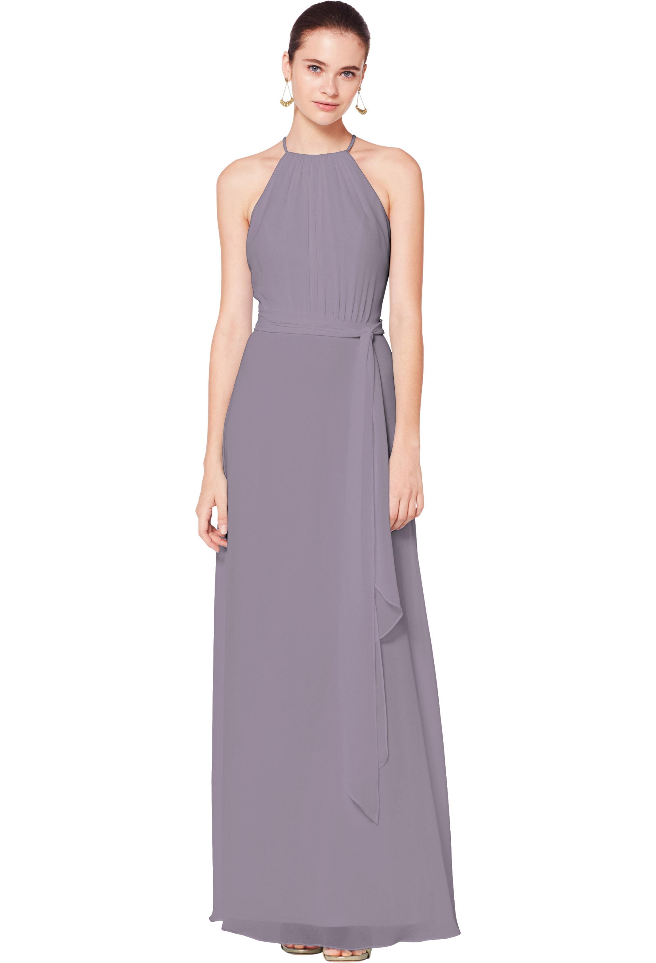 Bill Levkoff HEATHER Chiffon Illusion A-line gown, $180.00 Front