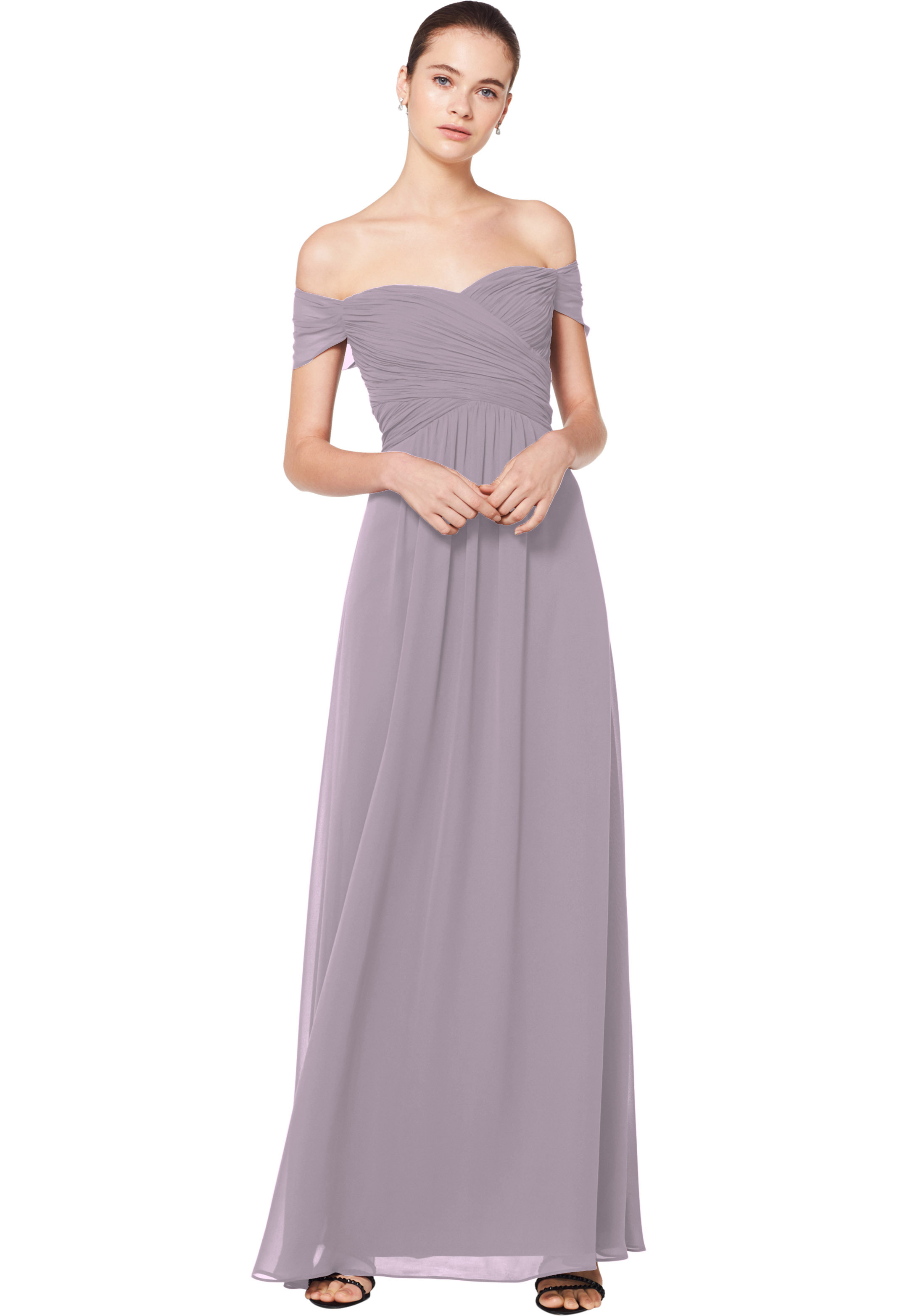 Bill Levkoff HEATHER Chiffon Sweetheart A-line gown, $180.00 Front