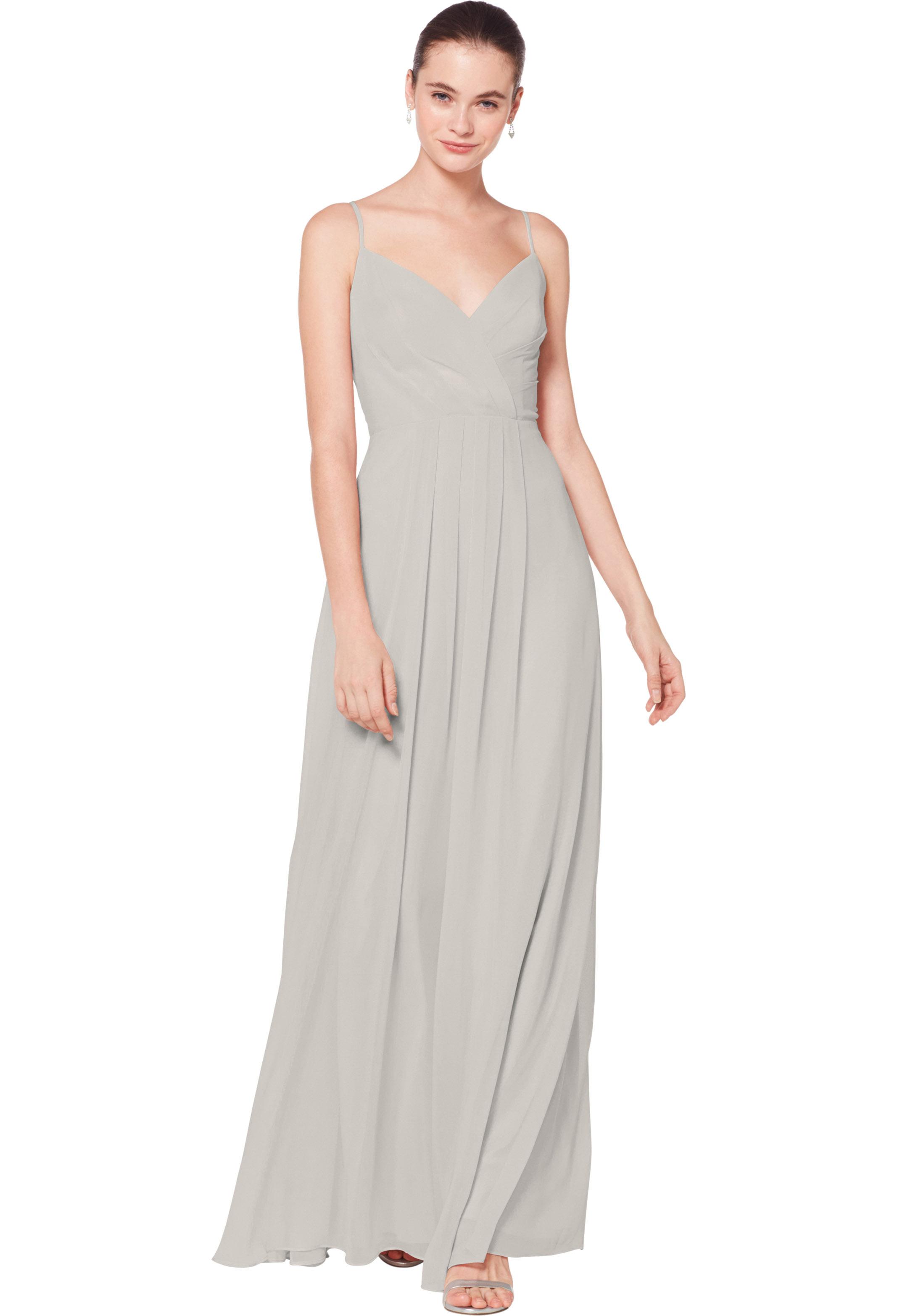 Bill Levkoff DESERT GREY Chiffon Sweetheart A-line gown, $178.00 Front