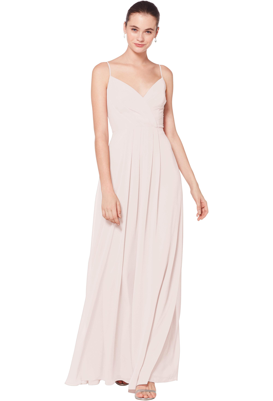 Bill Levkoff Petal Pink Chiffon Sweetheart A-line gown, $178.00 Front