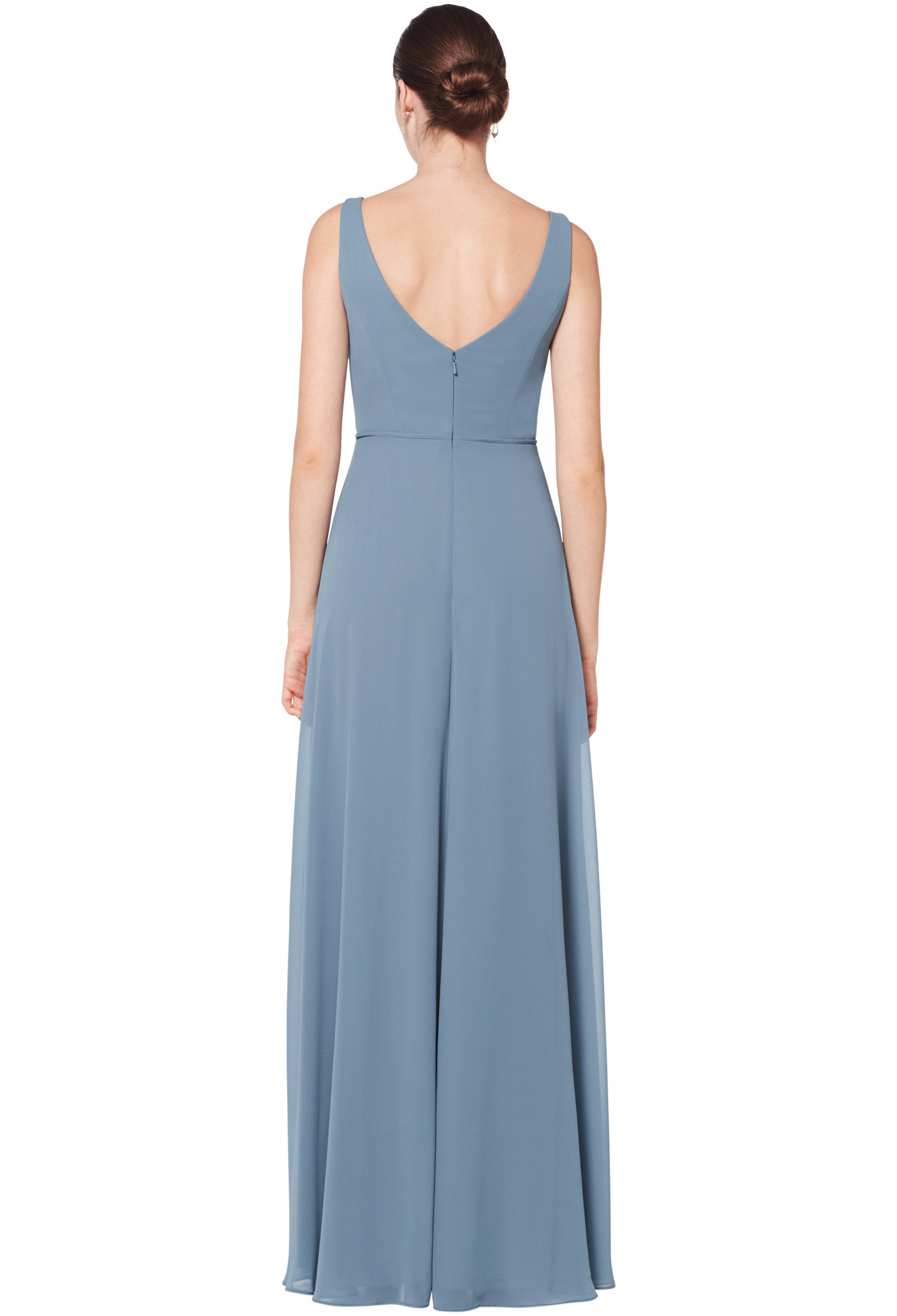 Bill Levkoff HORIZON Chiffon Sleeveless Natural Waist gown, $178.00 Back