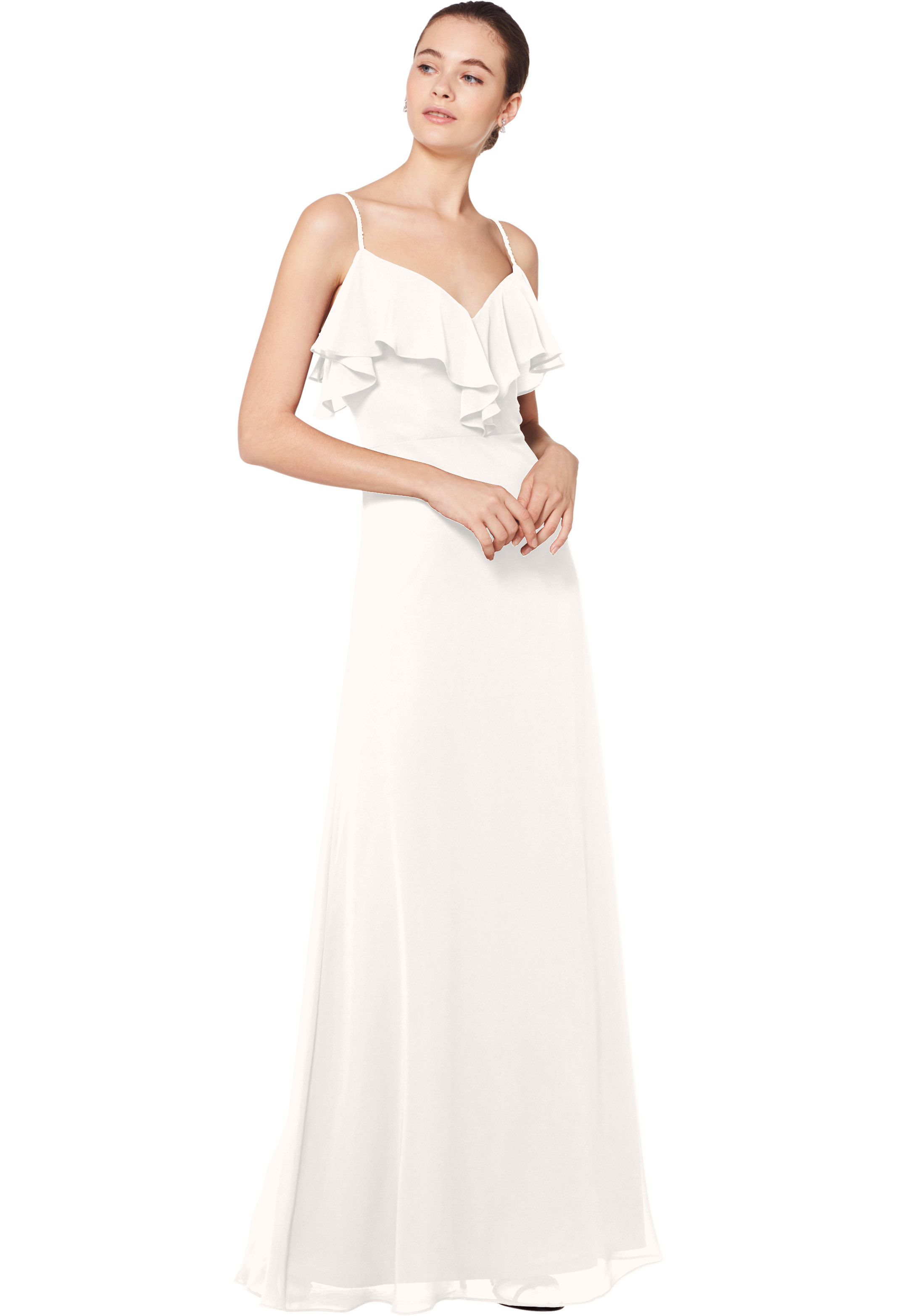 Bill Levkoff IVORY Chiffon Sweetheart A-line gown, $180.00 Front