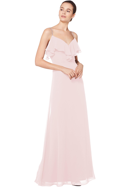 Bill Levkoff PETAL PINK Chiffon Sweetheart A-line gown, $180.00 Front