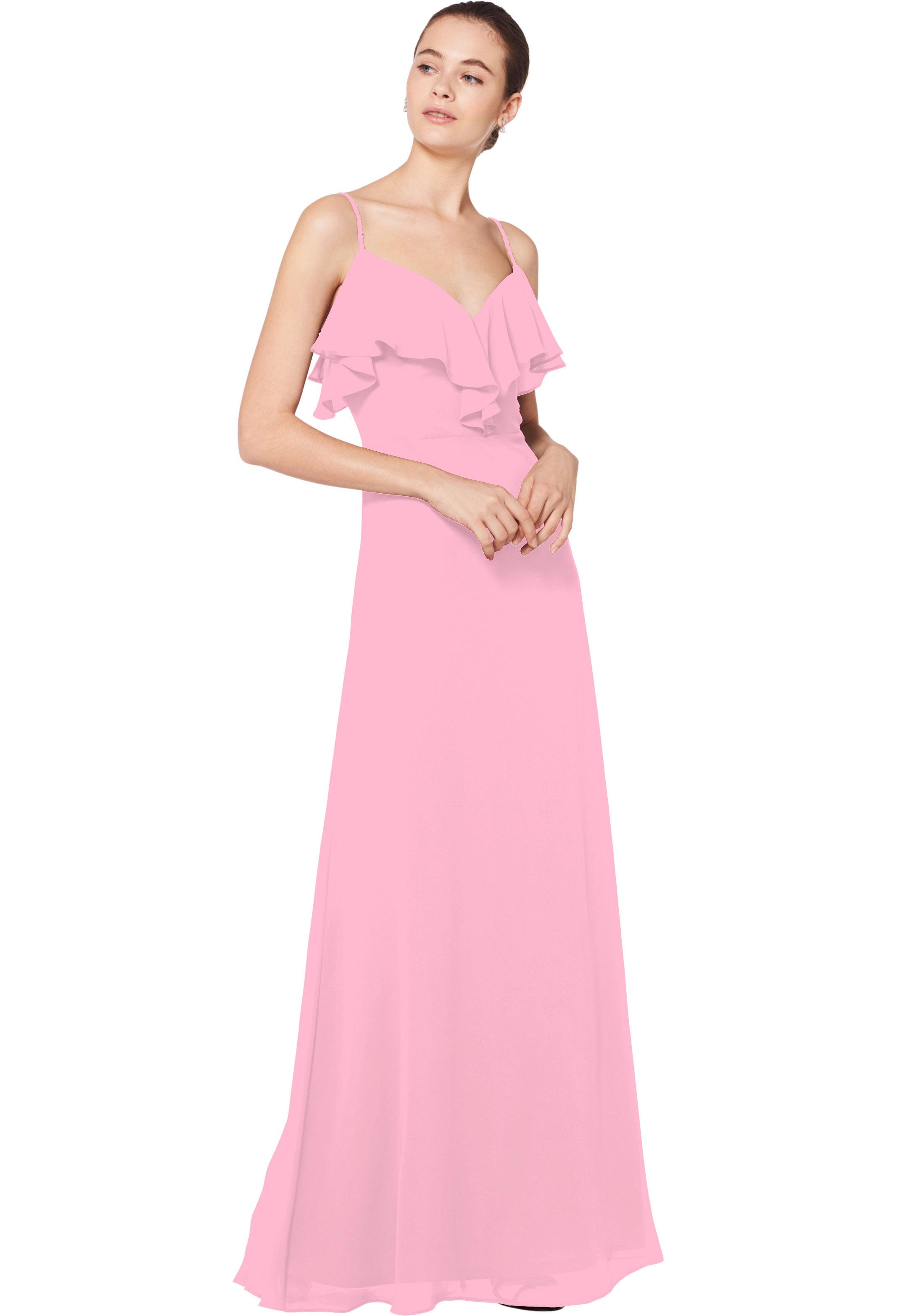 Bill Levkoff ROSEPETAL Chiffon Sweetheart A-line gown, $180.00 Front