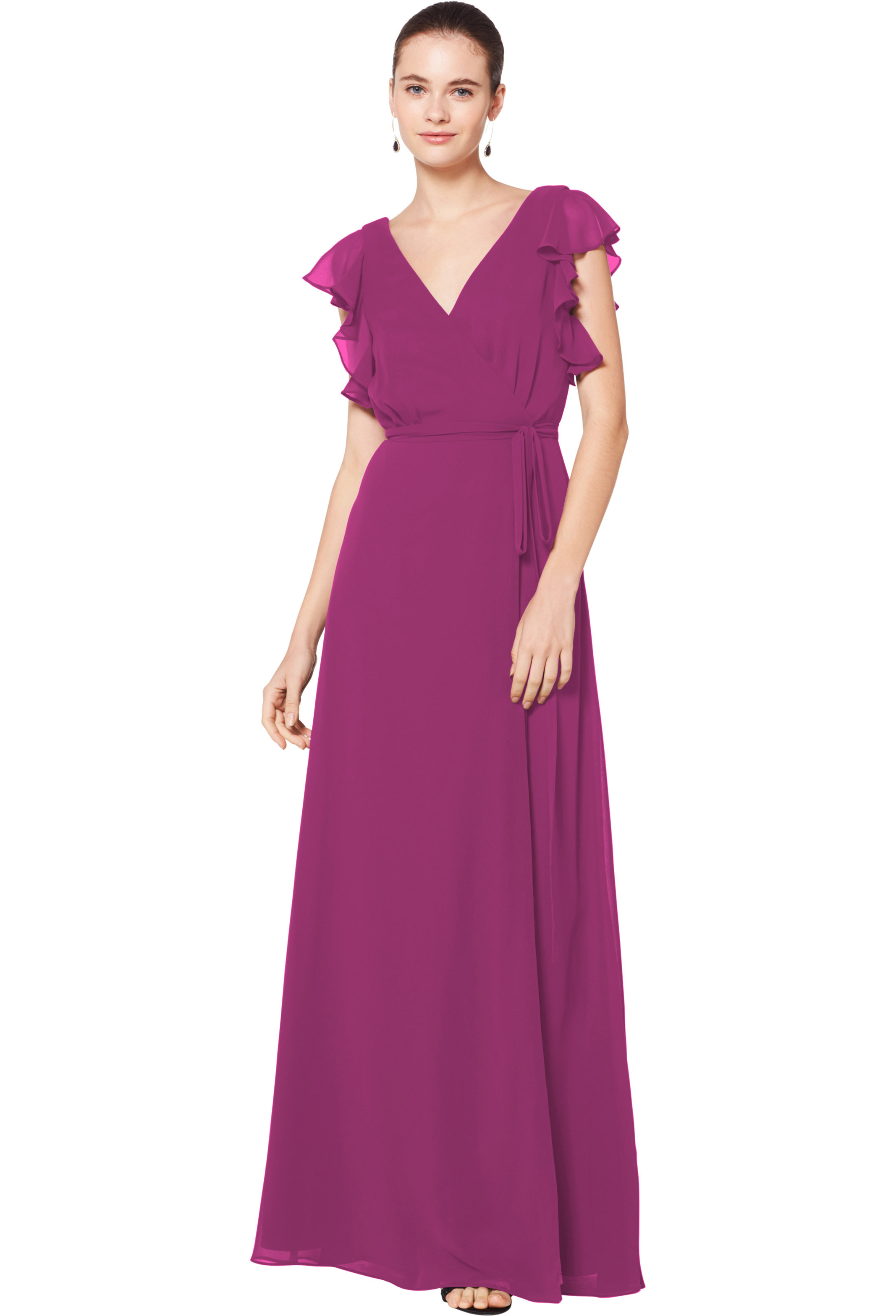 Bill Levkoff SANGRIA Chiffon Sleeveless A-line gown, $180.00 Front