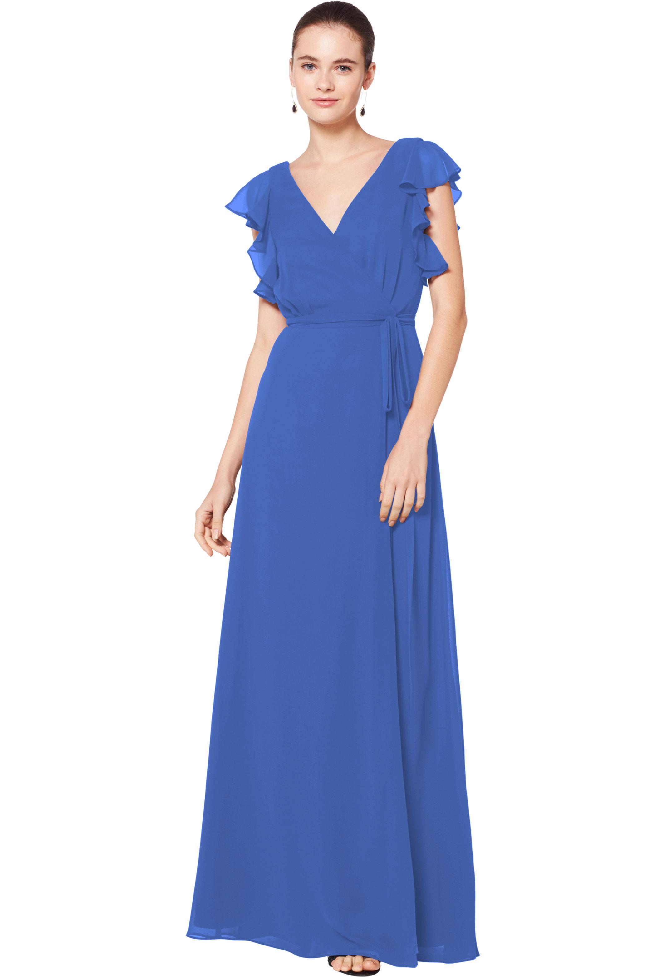 Bill Levkoff HORIZON Chiffon Sleeveless A-line gown, $180.00 Front