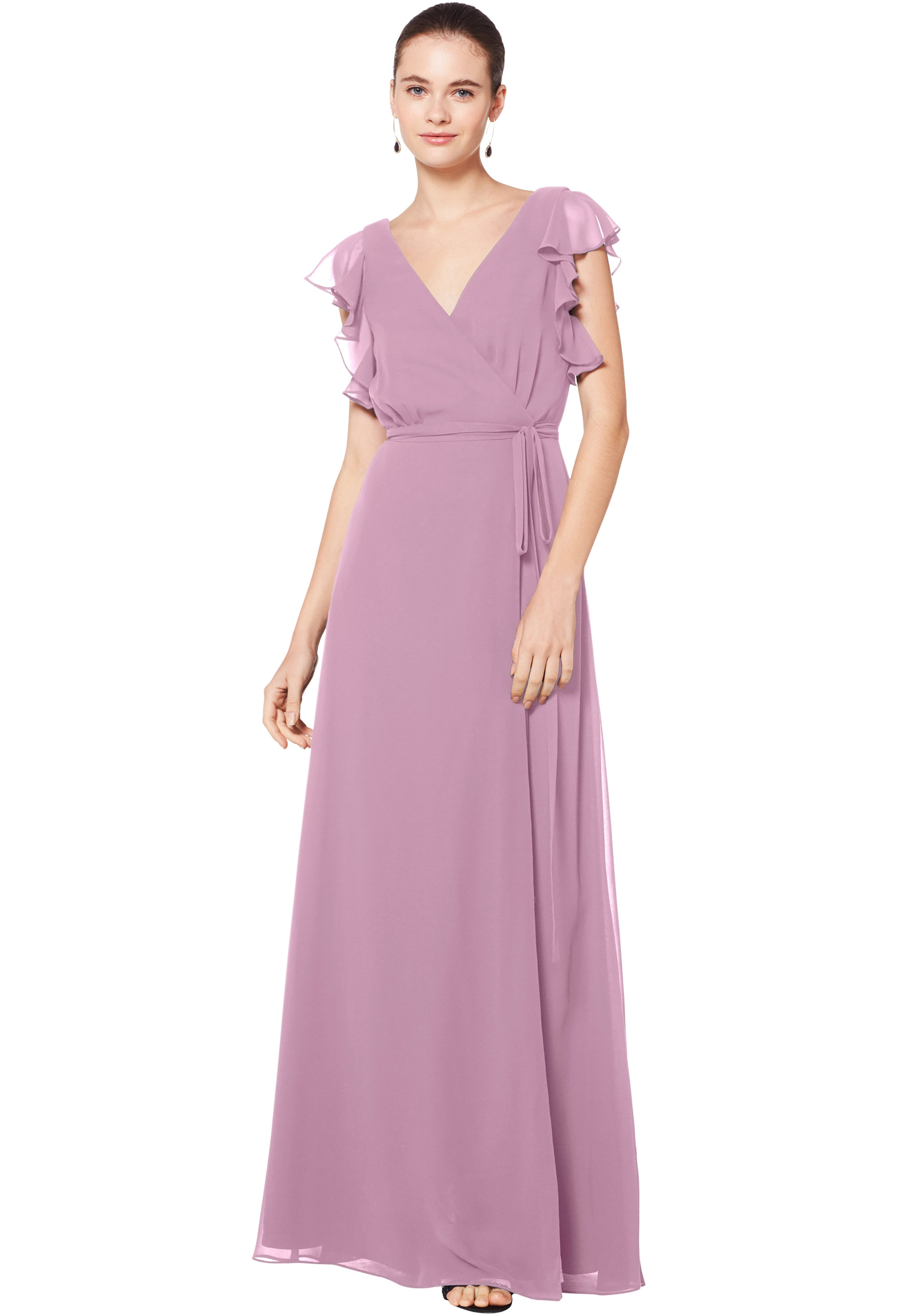 Bill Levkoff WISTERIA Chiffon Sleeveless A-line gown, $180.00 Front