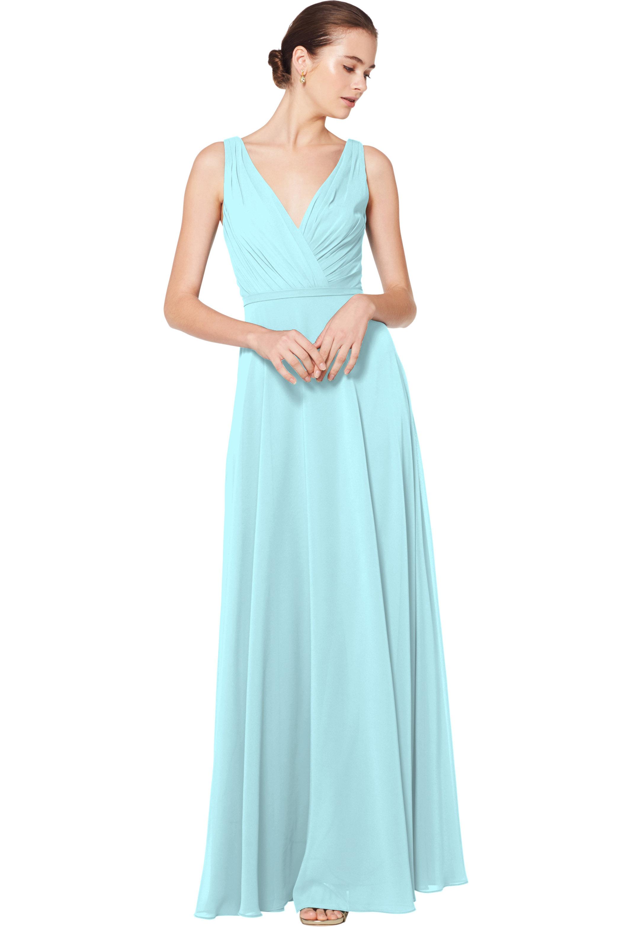 Bill Levkoff GLACIER Chiffon Sleeveless A-line gown, $180.00 Front
