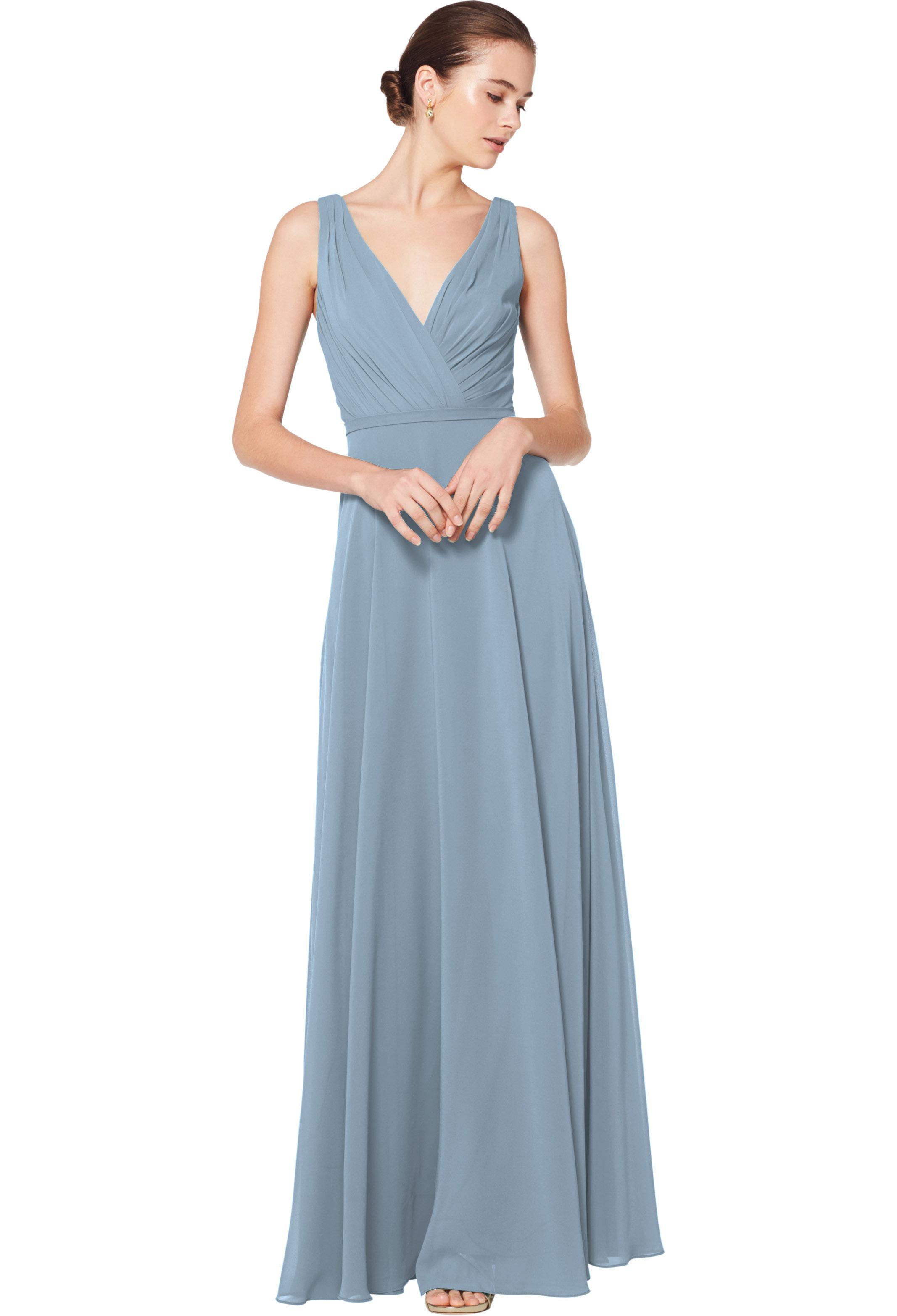 Bill Levkoff SLATE Chiffon Sleeveless A-line gown, $180.00 Front