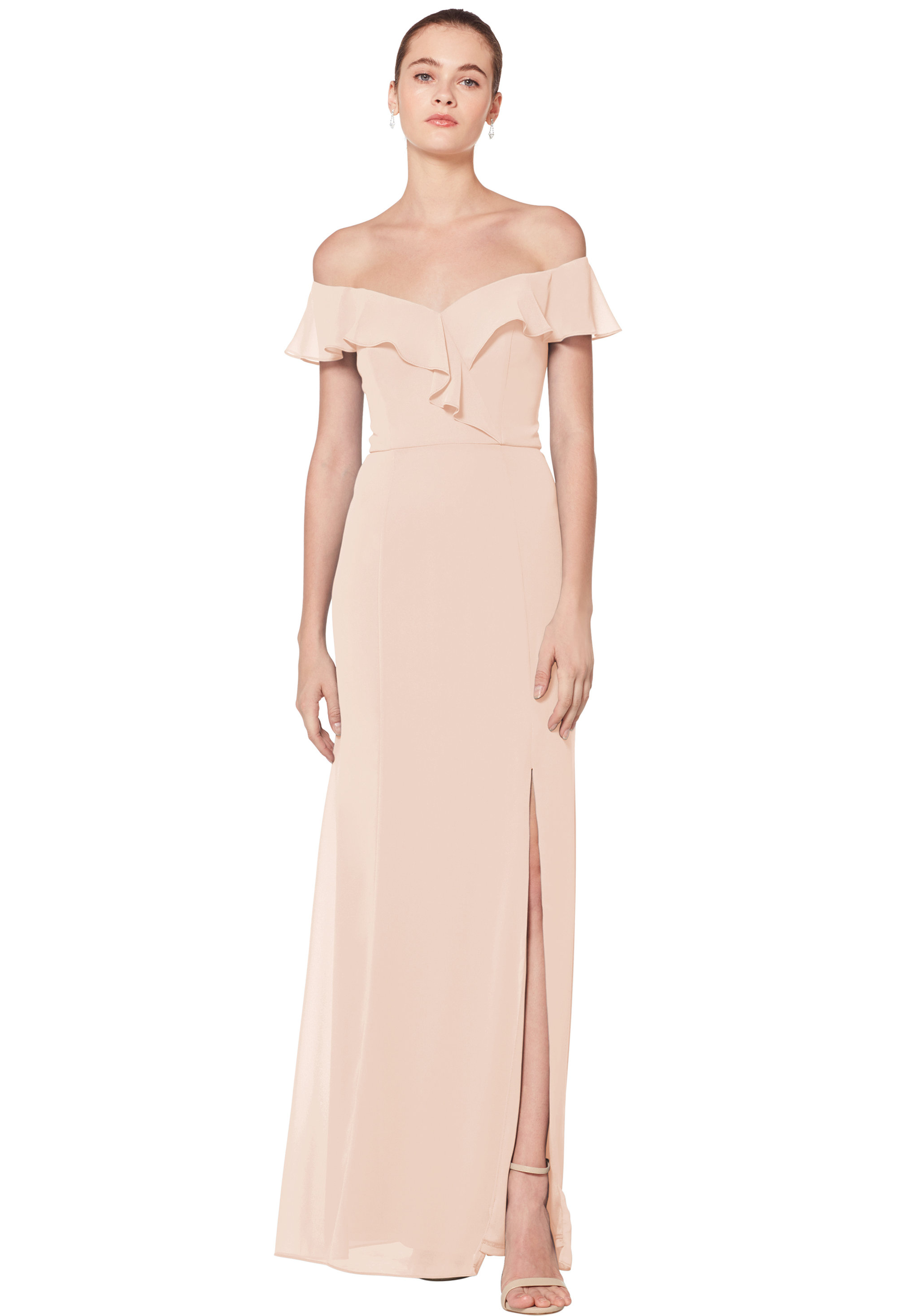 Bill Levkoff CASHMERE Chiffon Sweetheart Floor Length gown, $170.00 Front
