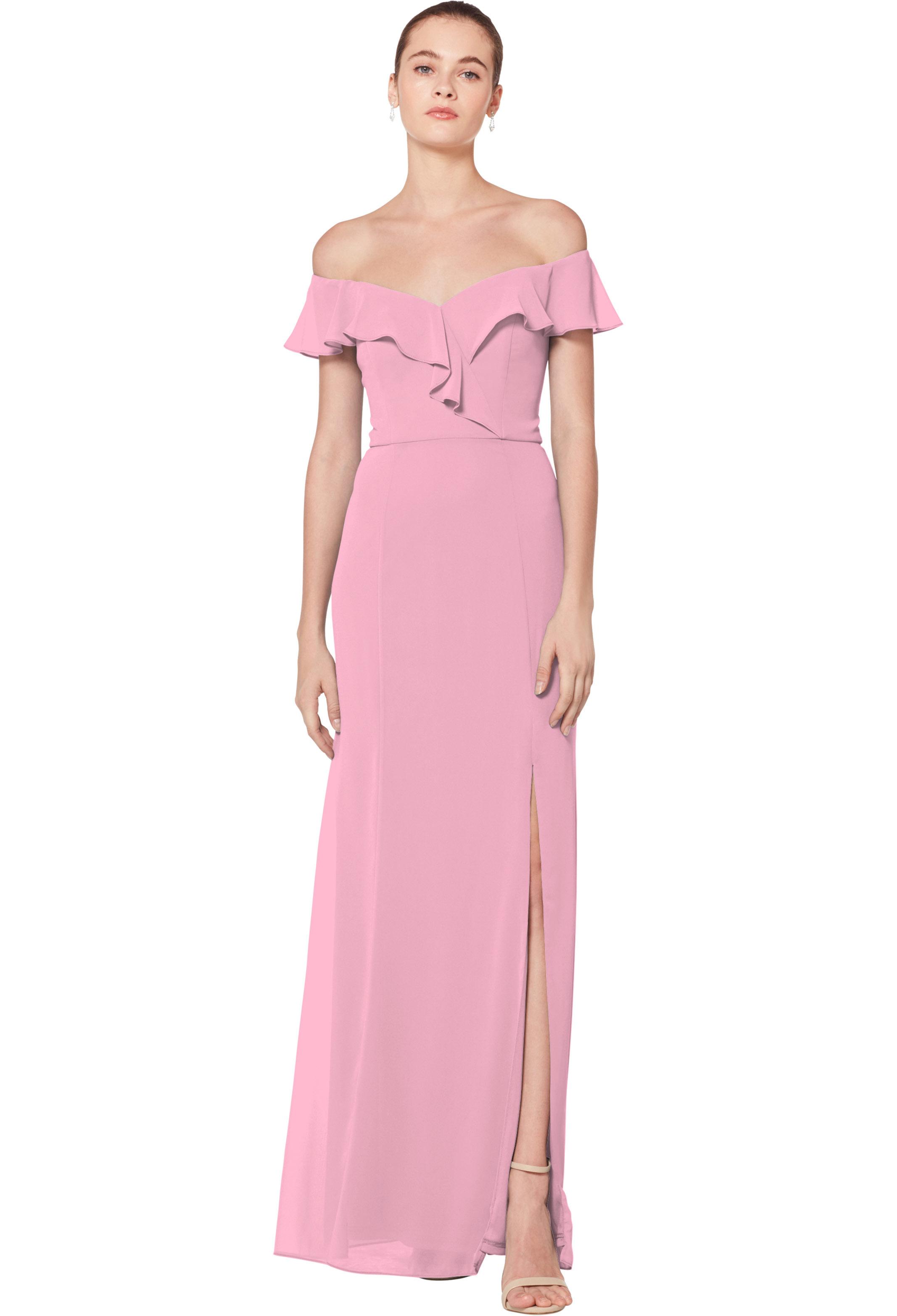 Bill Levkoff ROSEPETAL Chiffon Sweetheart Floor Length gown, $170.00 Front