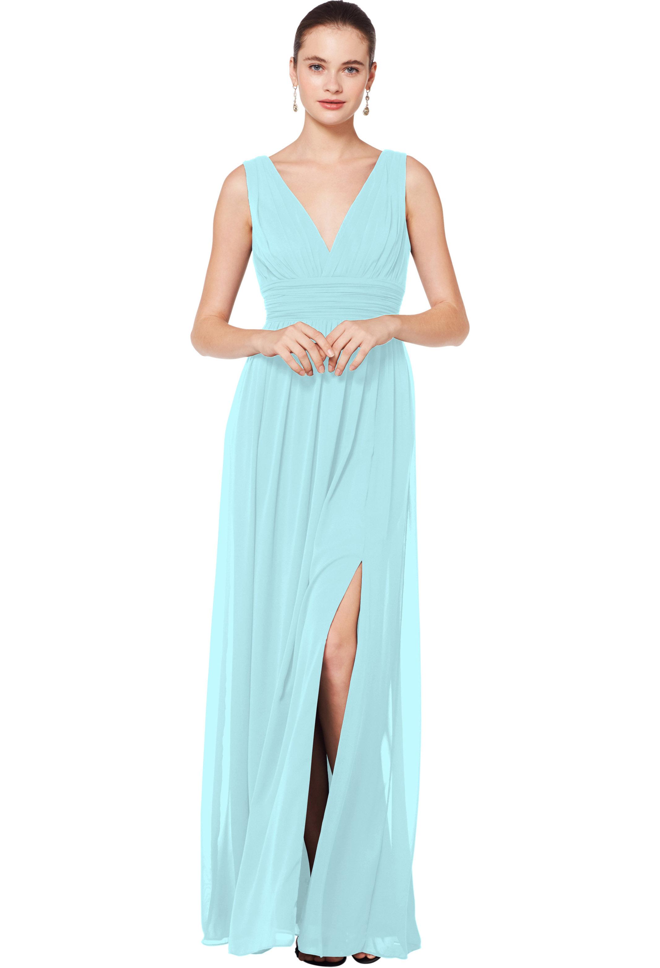 Bill Levkoff GLACIER Chiffon Sleeveless A-line gown, $176.00 Front