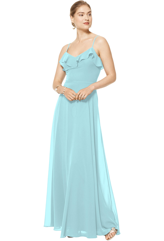 Bill Levkoff GLACIER Chiffon V-neck A-line gown, $170.00 Front
