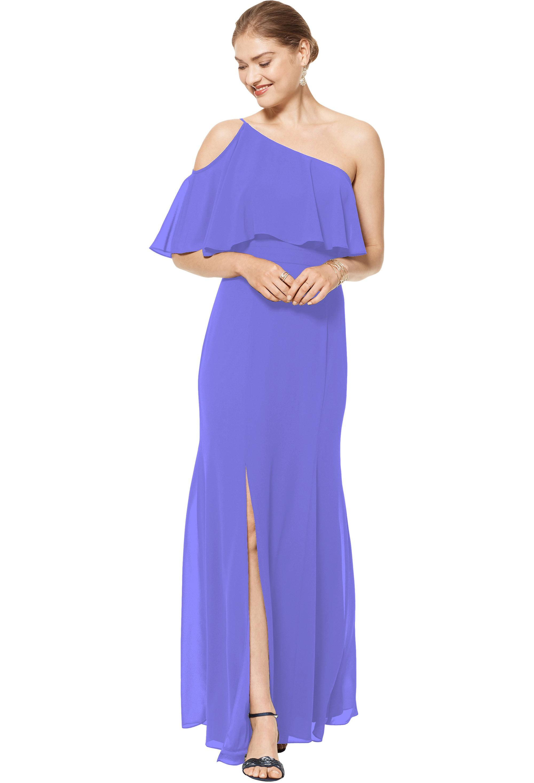 Bill Levkoff REGENCY Chiffon One Shoulder Floor Length gown, $158.00 Front