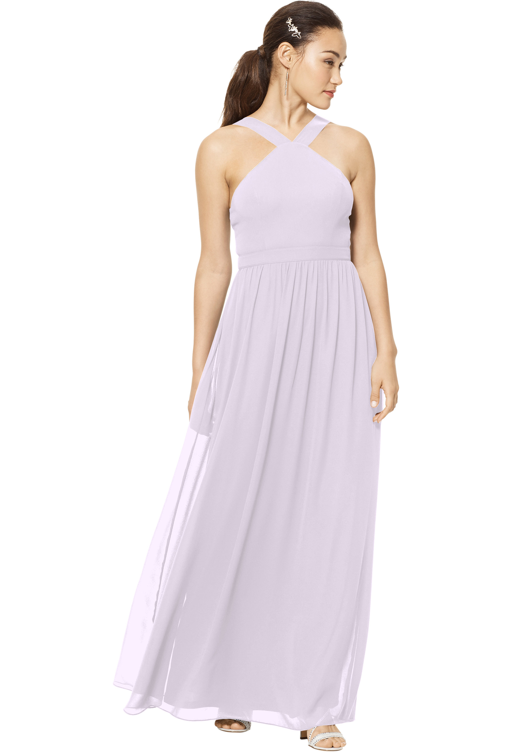 Bill Levkoff VIOLET Chiffon Sleeveless A-line gown, $150.00 Front
