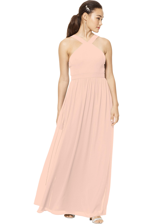 Bill Levkoff PETAL PINK Chiffon Sleeveless A-line gown, $150.00 Front
