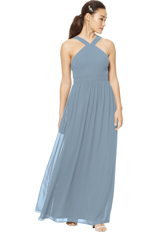 Bill Levkoff SLATE Chiffon Sleeveless A-line gown, $150.00 Front