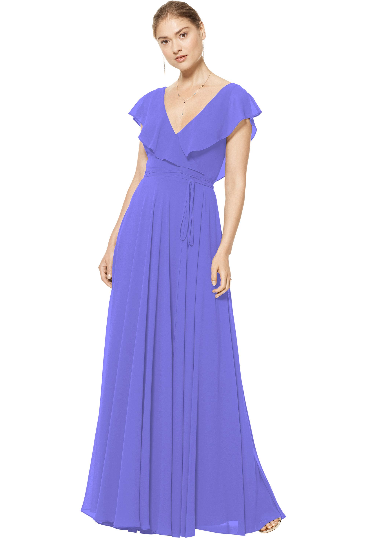 Bill Levkoff REGENCY Chiffon V-neck A-line gown, $178.00 Front