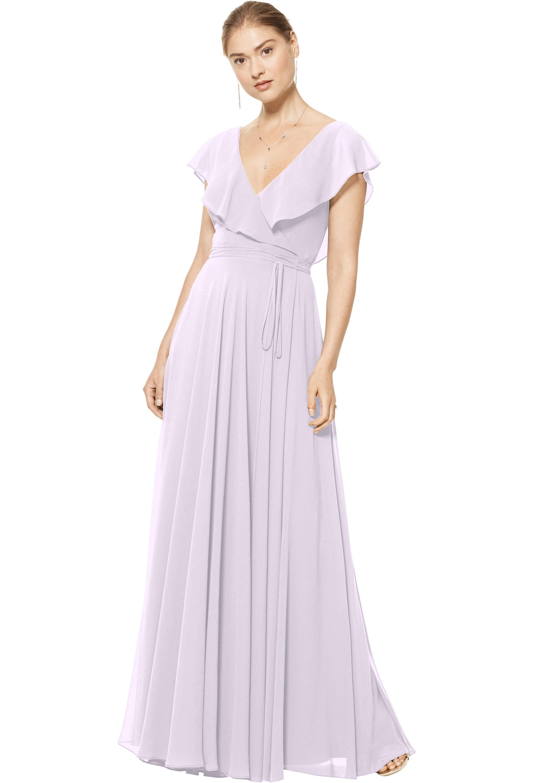 Bill Levkoff VIOLET Chiffon V-neck A-line gown, $178.00 Front