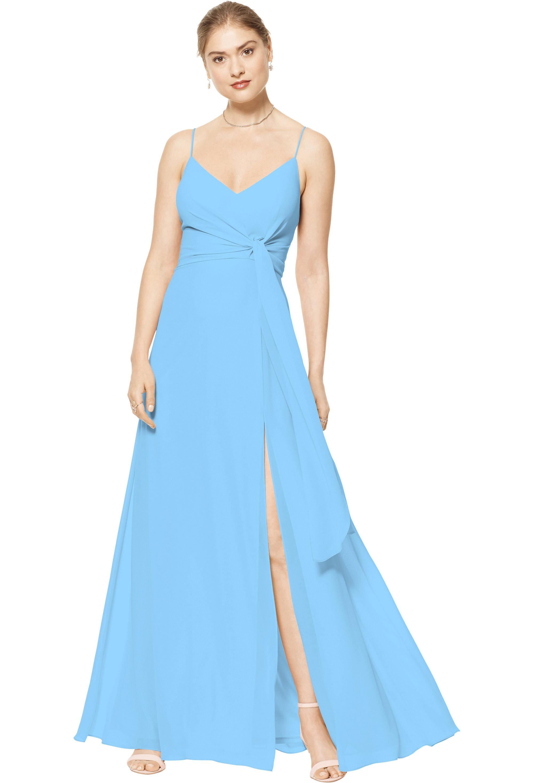 Bill Levkoff CAPRI Chiffon V-neck A-line gown, $170.00 Front