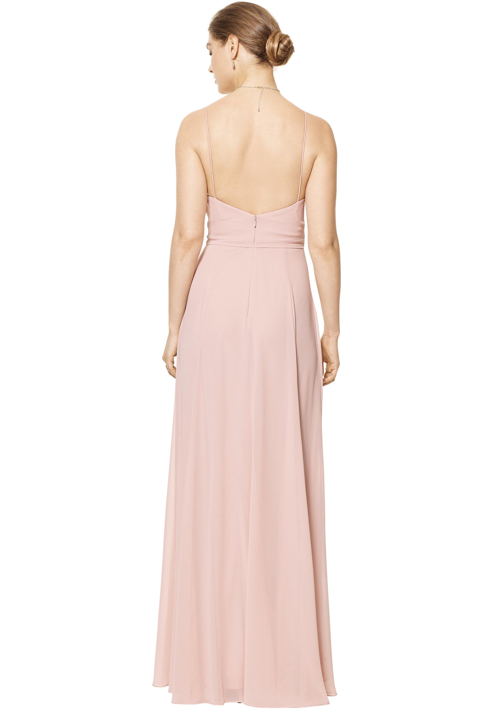 Bill Levkoff EVERGREEN Chiffon V-neck A-line gown, $170.00 Back