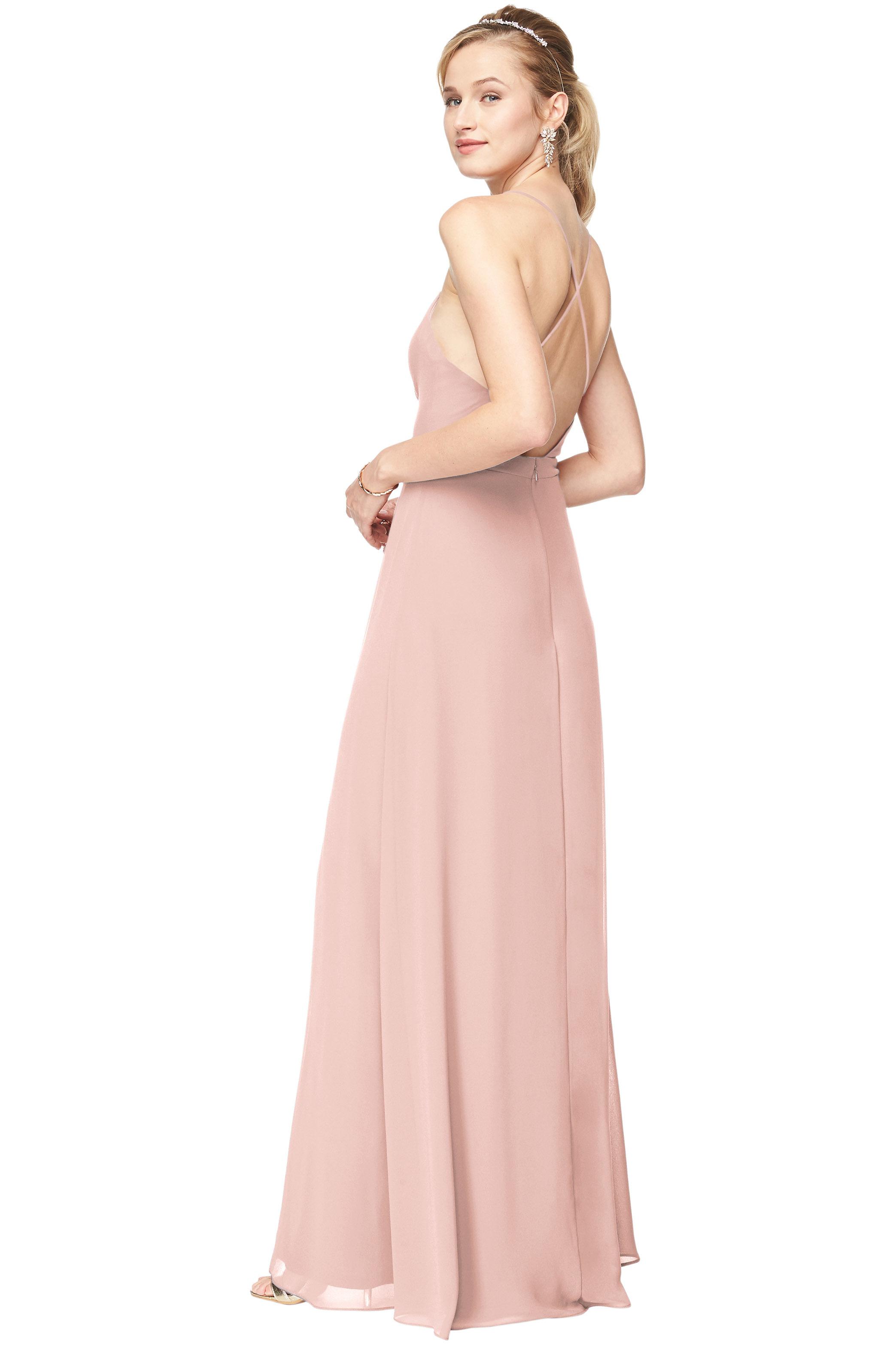 Bill Levkoff FROST ROSE Chiffon Surplice A-Line gown, $178.00 Back
