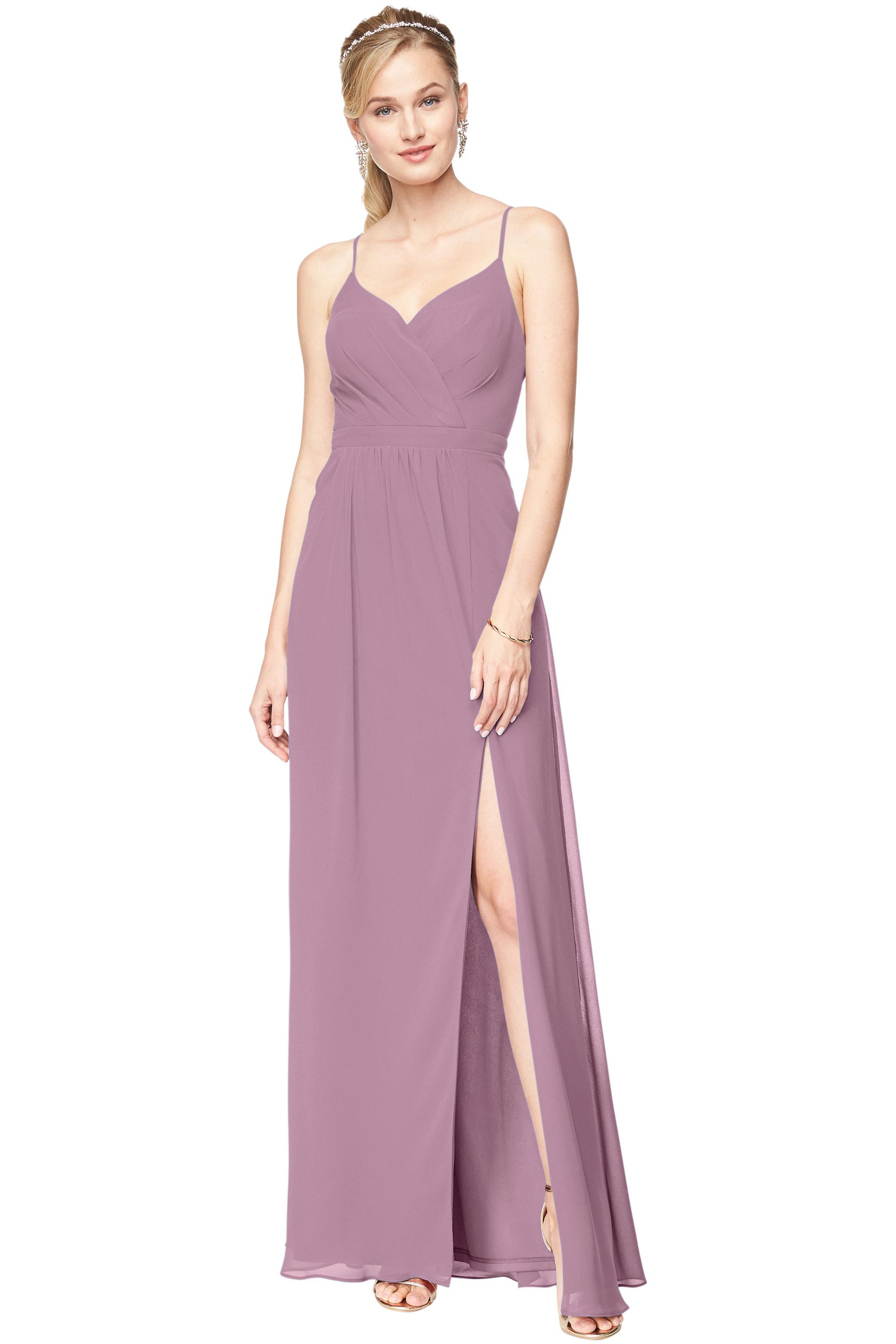 Bill Levkoff WISTERIA Chiffon Surplice A-Line gown, $178.00 Front
