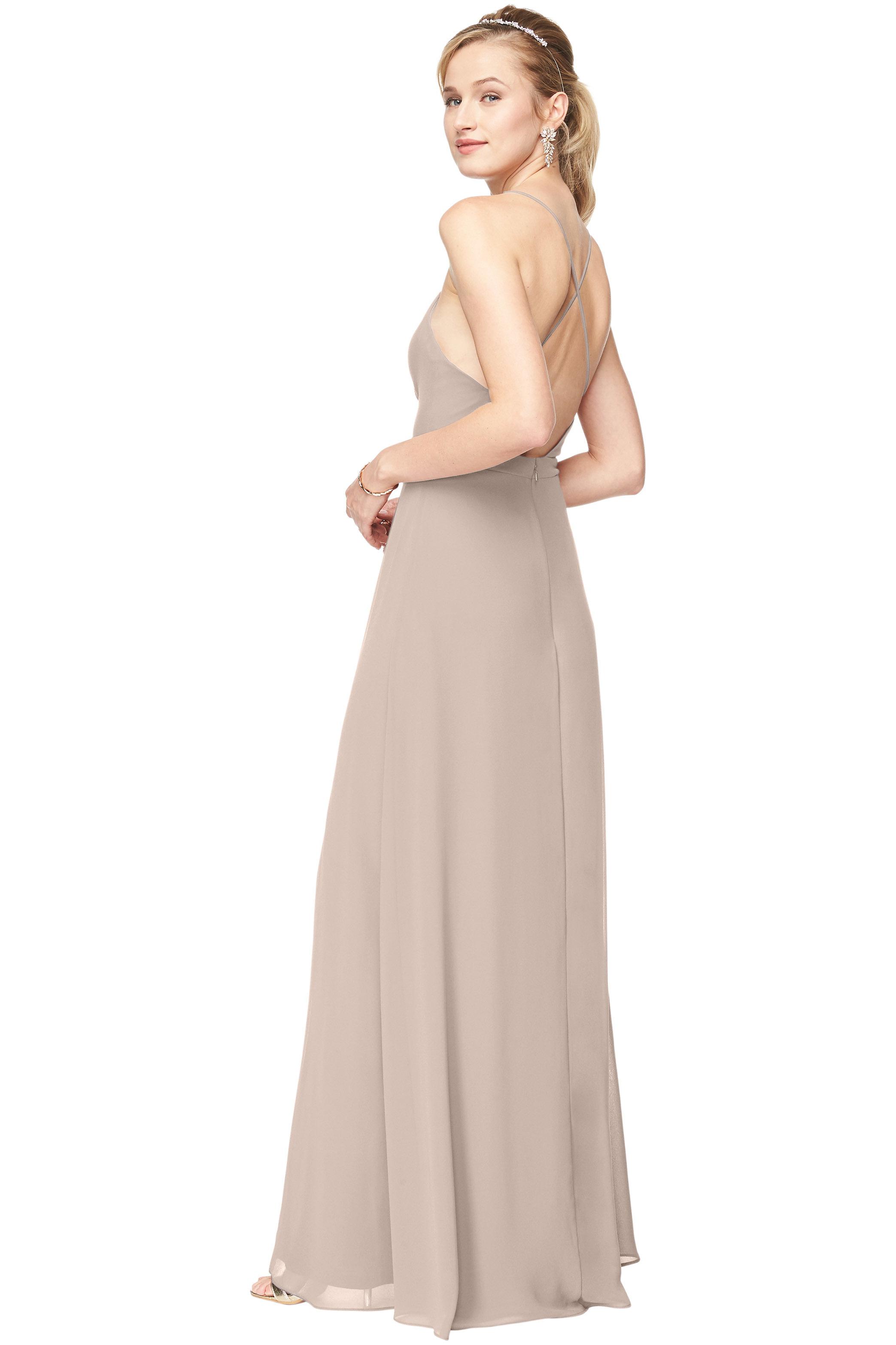 Bill Levkoff CASHMERE Chiffon Surplice A-Line gown, $151.30 Back
