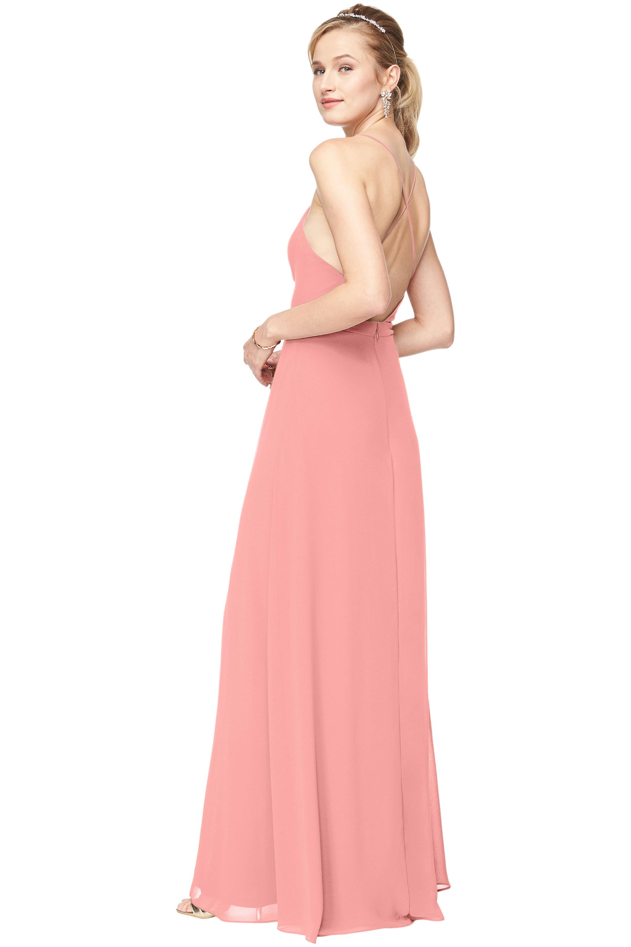 Bill Levkoff CORAL Chiffon Surplice A-Line gown, $178.00 Back