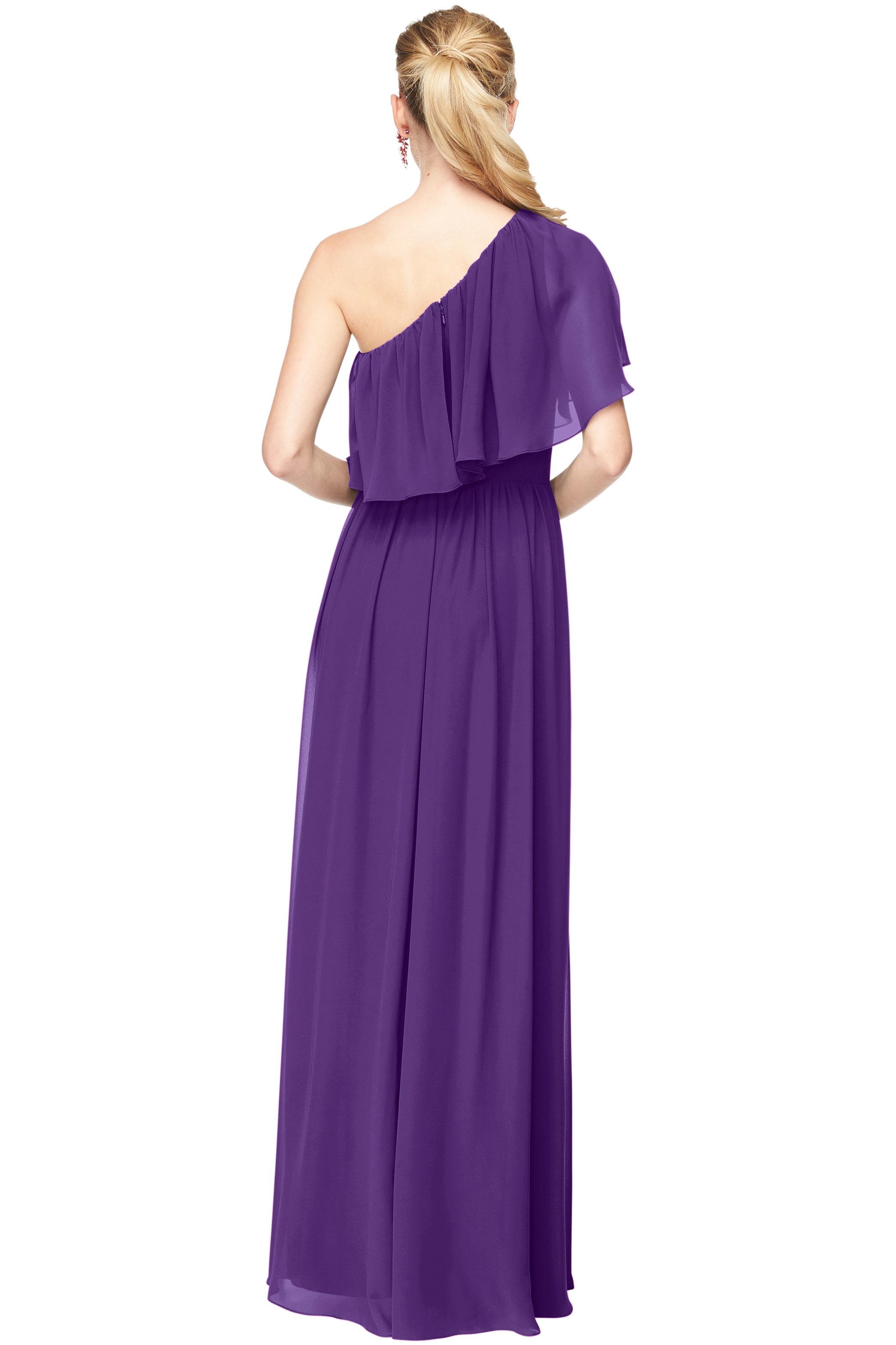 Bill Levkoff REGENCY Chiffon One Shoulder A-Line gown, $184.00 Back