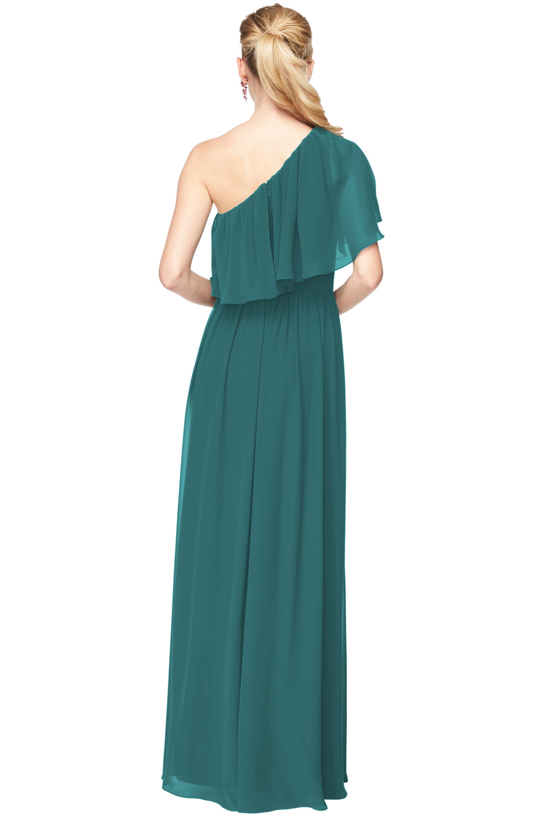 Bill Levkoff OASIS Chiffon One-Shoulder A-Line gown, $156.40 Back