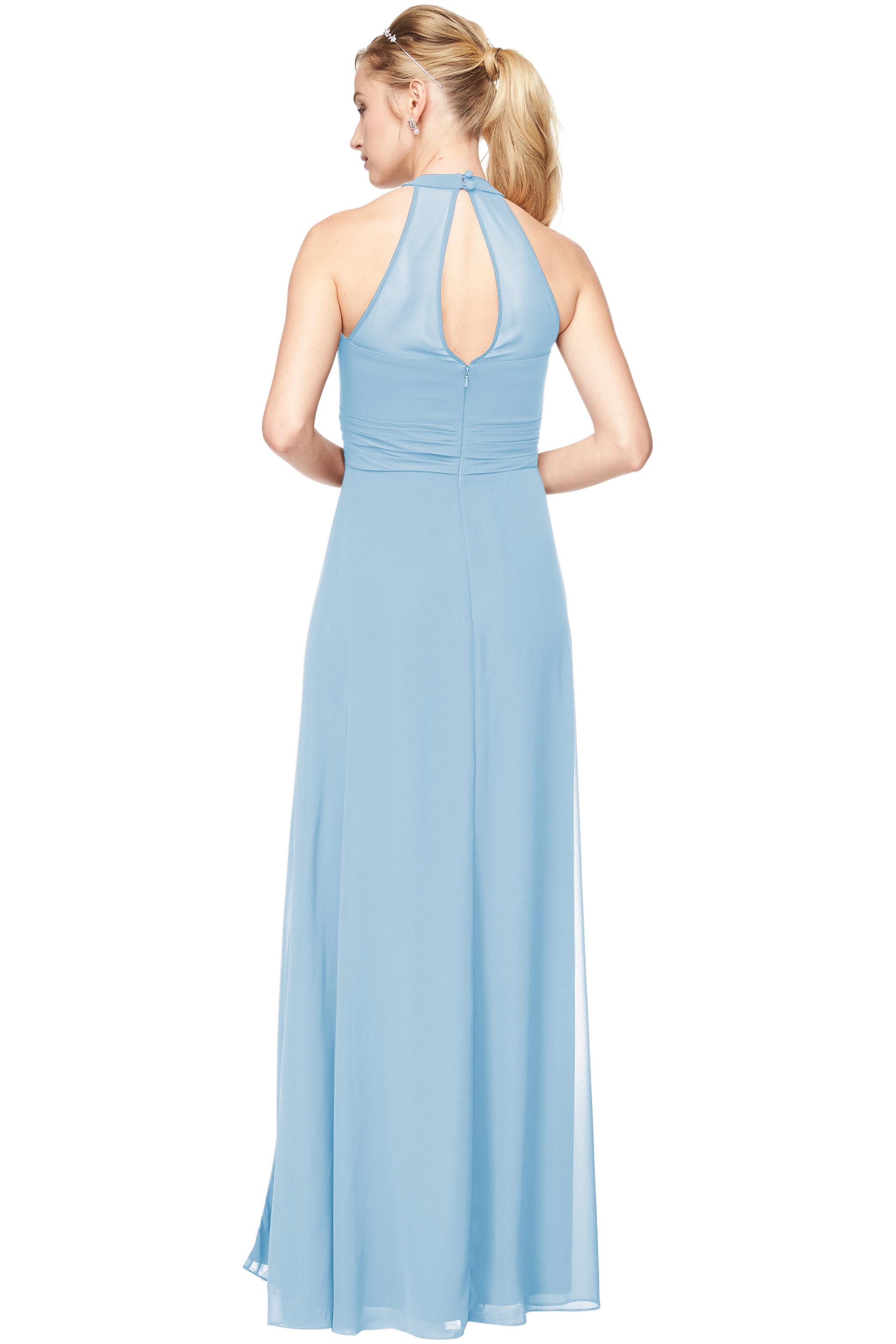 Bill Levkoff CAPRI Chiffon V-Neck A-Line gown, $198.00 Back