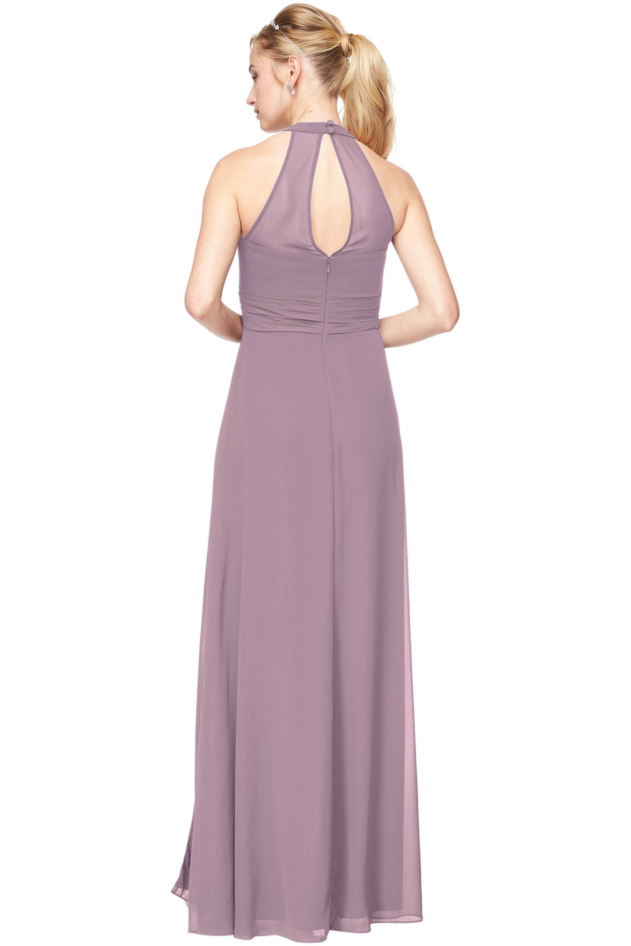 Bill Levkoff HEATHER Chiffon V-Neck A-Line gown, $198.00 Back